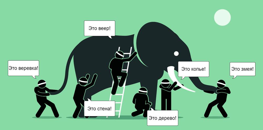 слон и мудрецы